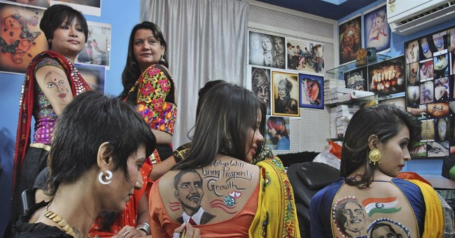 Image of Asia: Body art to mark Modi's visit to US