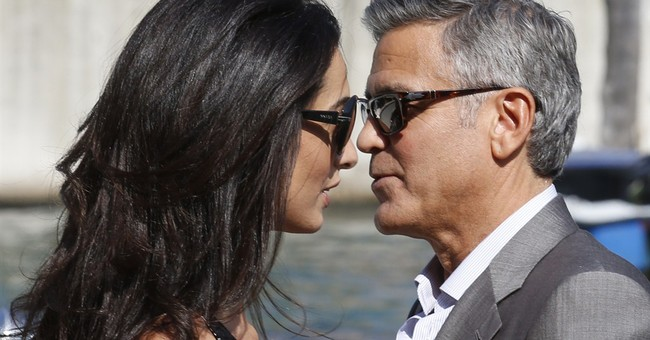 Clooney, fiancee arrive in Venice for wedding
