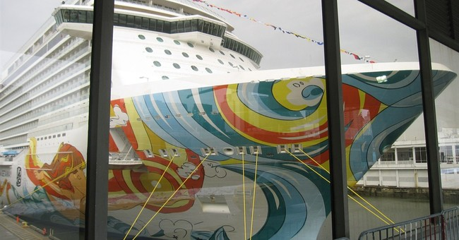 New Norwegian Getaway ship visiting NYC this week