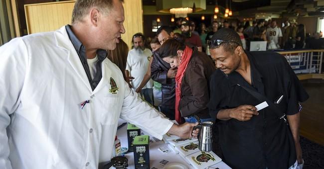 1000 veterans line up for free marijuana