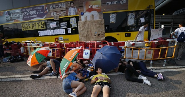 No images of Hong Kong protests in China's media