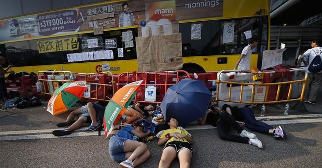 No images of Hong Kong protests in China's media