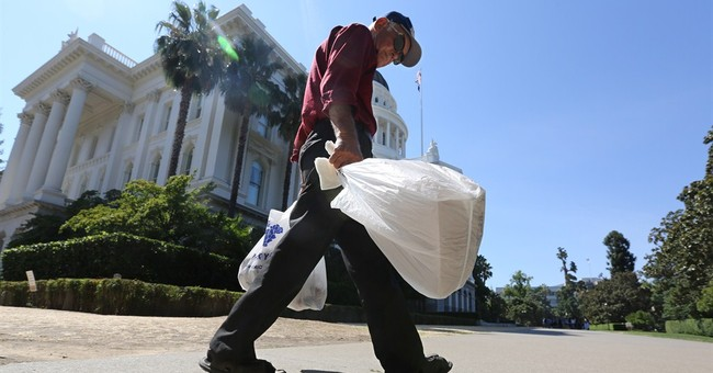 California becomes first state to ban plastic bags