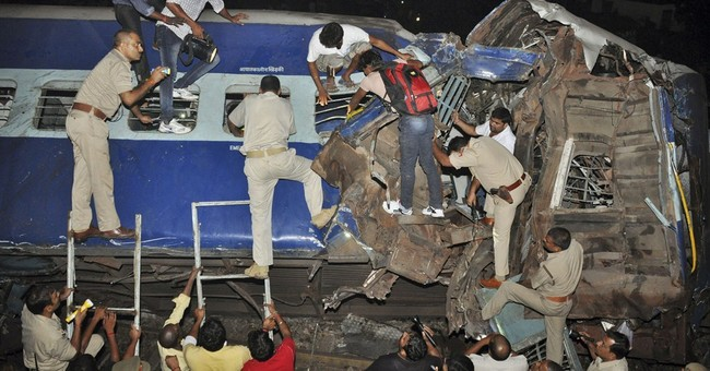 12 killed as 2 trains collide in northern India