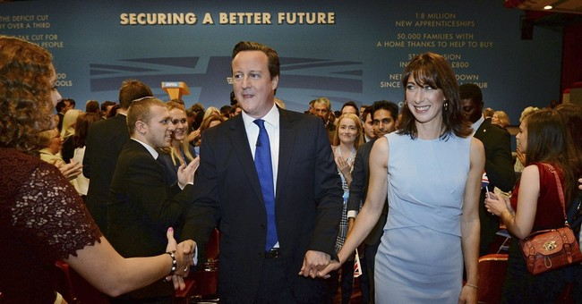 UK leader promises tax cuts, EU battle