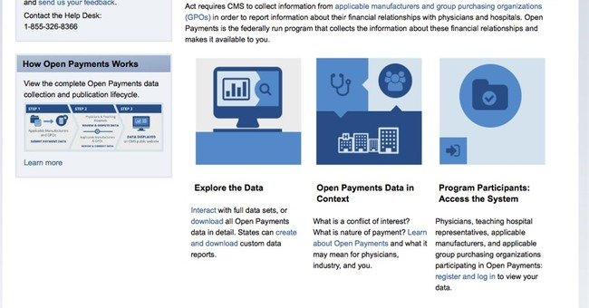 Gov't website for doc payments not up to snuff