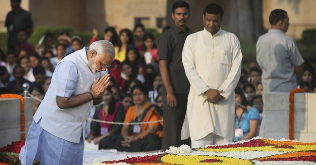 Image of Asia: Paying tribute to Gandhi