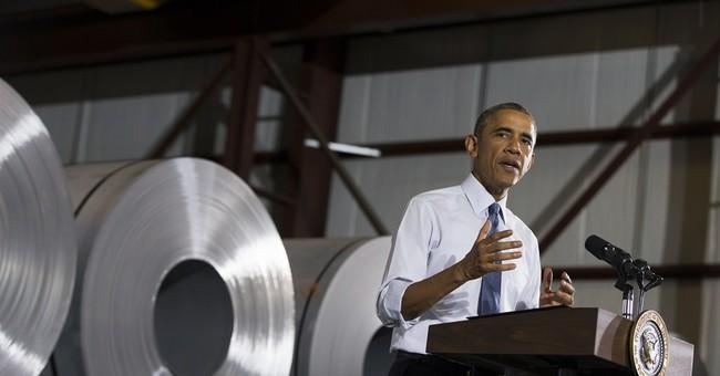 Obama highlights economic, manufacturing gains