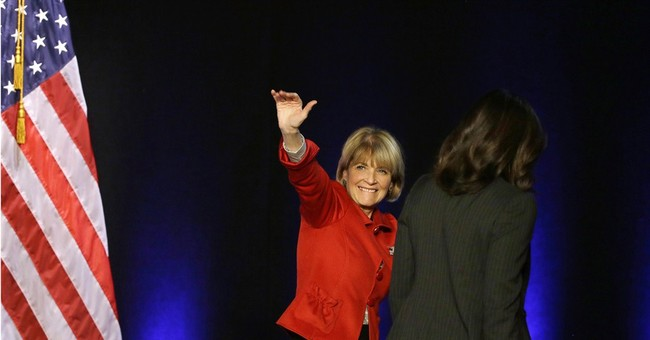 First lady stumps in New England for Democrats