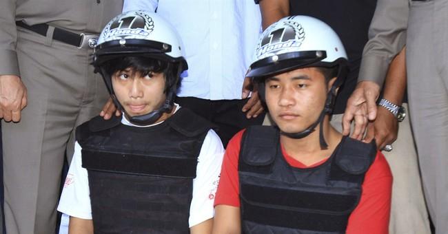 Myanmar men accused of killing 2 Brits in Thailand