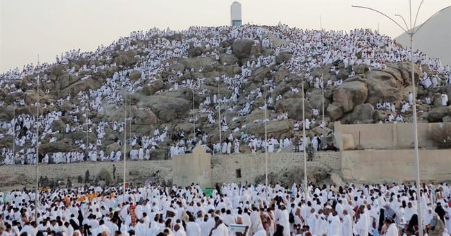 In Saudi Arabia, Muslims pray on climax of hajj