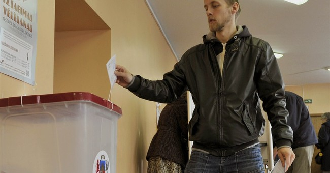 Latvia's center-right ruling coalition wins vote