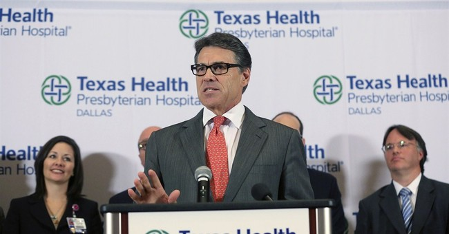 Ebola case gives Perry real-time leadership test