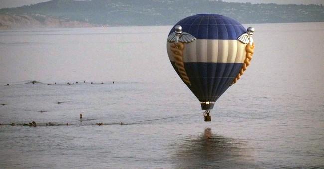Hot air balloon dips into California sea; 3 saved