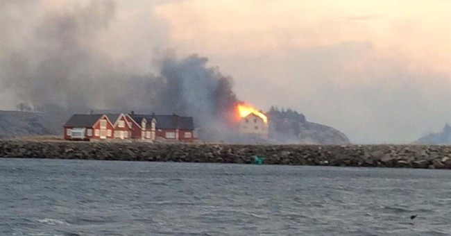 Fire consumes villages in northern Norway