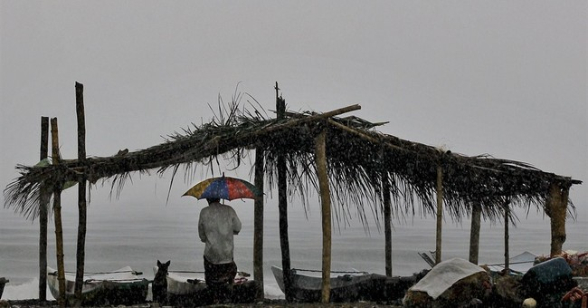 Image of Asia: Waiting for the rain to end