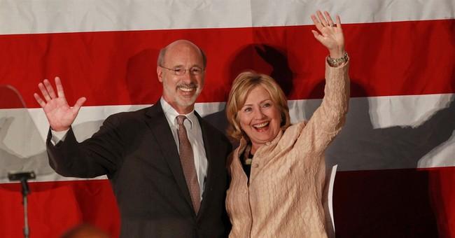 Clinton, Christie lend clout to Pennsylvania race