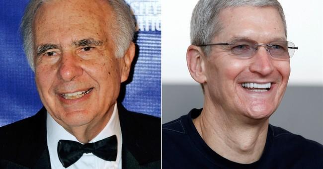 Icahn wants more Apple buybacks, sees $203 stock
