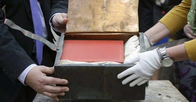 1901 Boston time capsule yields small red book