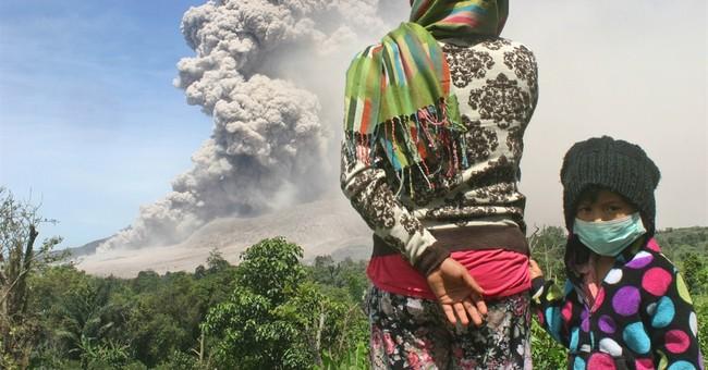 Image of Asia: Watching Mount Sinabung erupt