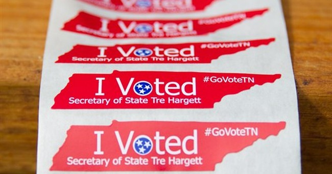'I Voted' stickers feature GOP name in Tennessee