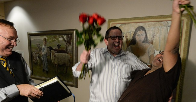 AP PHOTOS: Joy, confusion at gay marriage rulings