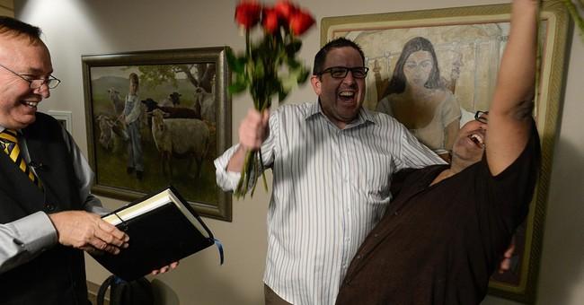 AP PHOTOS: Joy, confusion at gay marriage rulings