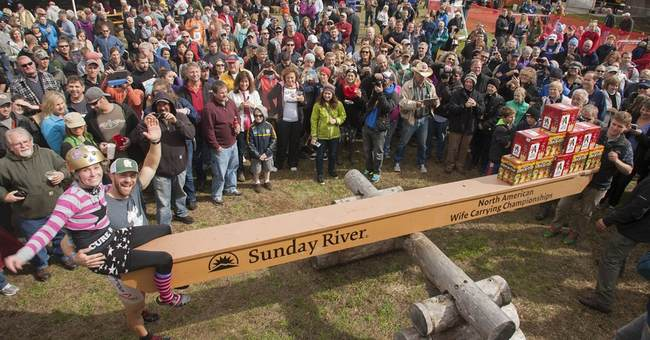 Maine couple captures wife-carrying championship