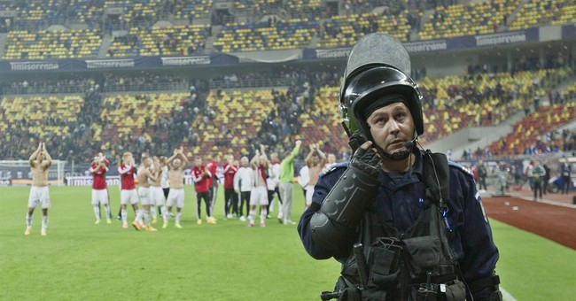 Police detain 30 at Romania-Hungary qualifier