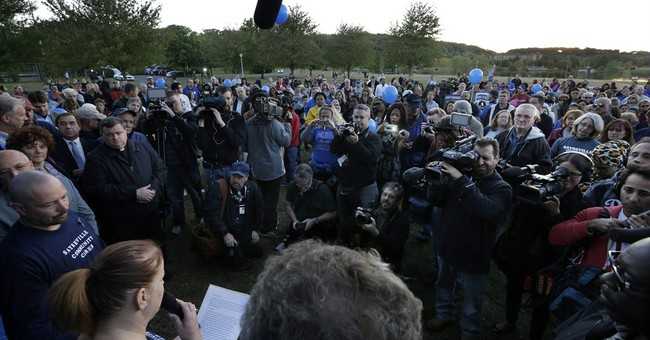 Rally staged in town rocked by hazing scandal