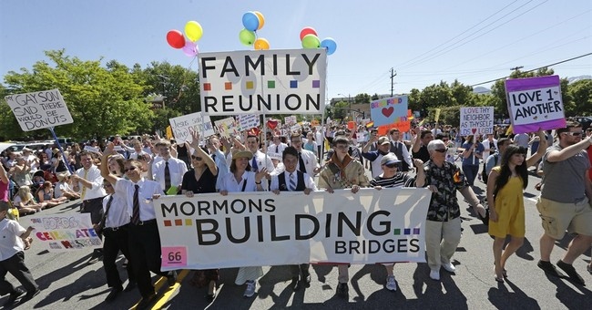 Some Mormons pushing church on gay marriage