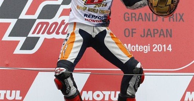 Marquez 2nd in Japan to claim MotoGP championship