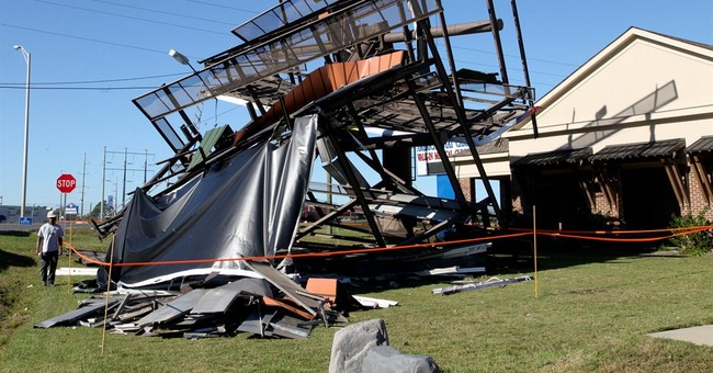 Storms blamed for 2 deaths sweep across the South