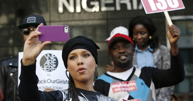 Alicia Keys holds protest for lost Nigerian girls