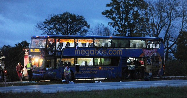 Indiana police: Megabus crashes, 18 injured