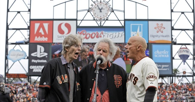 Phil Lesh, Bob Weir of Grateful Dead sing anthem