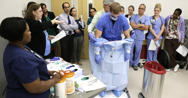 AP Photos: Training hospital workers for Ebola