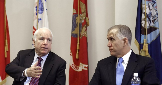 McCain appears with Tillis in eastern NC