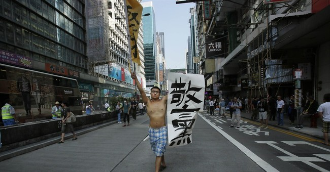 In Hong Kong, no endgame for chaotic protests