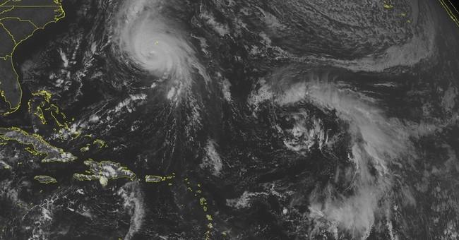 Center of Hurricane Gonzalo moves over Bermuda