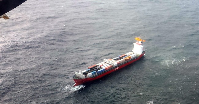 Container ship adrift off British Columbia coast