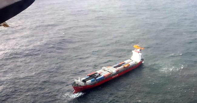 Container ship adrift off British Columbia coast