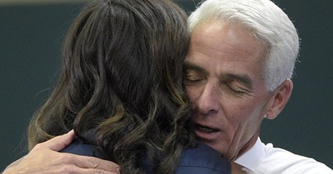 Crist stumps with first lady _ and his trusted fan