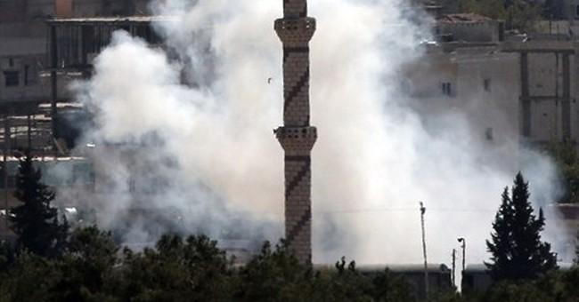 US-led strike kills 8 in IS-held Syria town