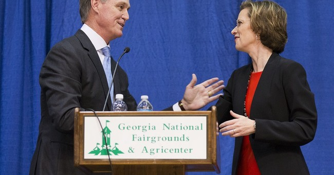 In Georgia Senate bid, Nunn talks economy to women