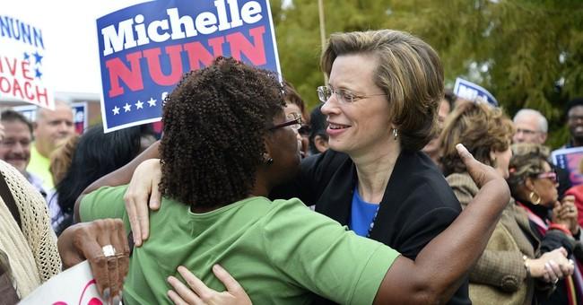 In Georgia Senate bid, Nunn talks economy to women
