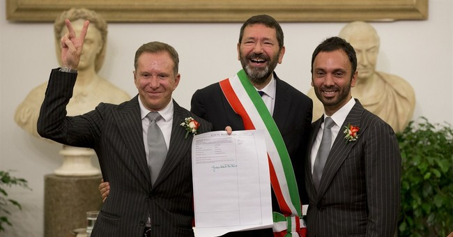 Rome mayor defiantly registers 16 gay marriages