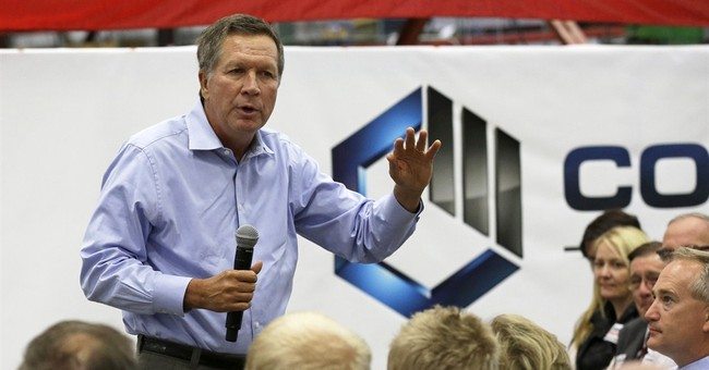 Ohio's Kasich goes own way in bid for re-election
