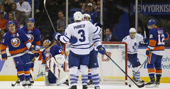 Kessel's two goals lifts Leafs over Islanders 5-2