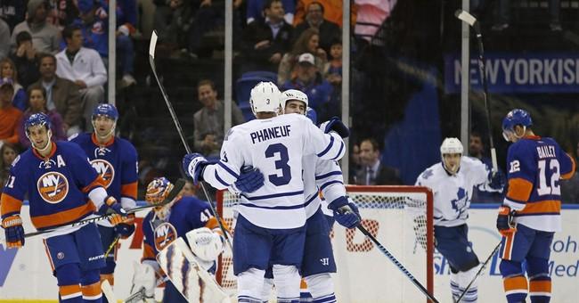 Kessel's two goals lifts Leafs over Islanders 5-2